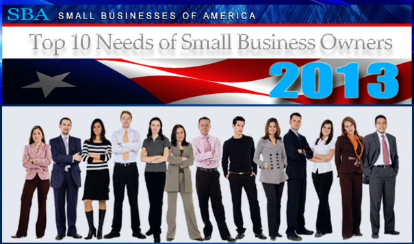 SBA Top 10 Needs of Small Business Owners