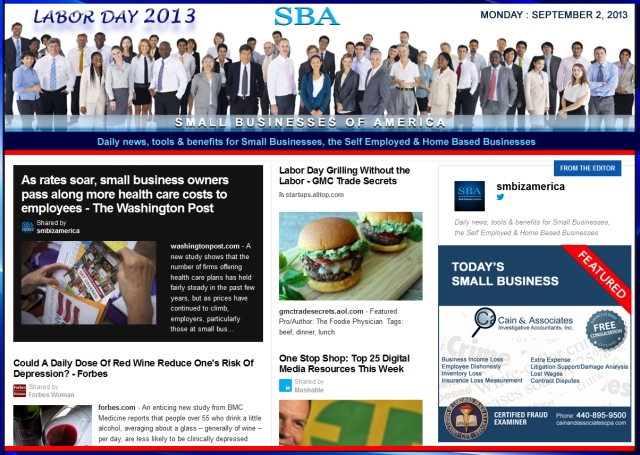 SBA Small Businesses of America 090213, smbiz, news, cain&associates