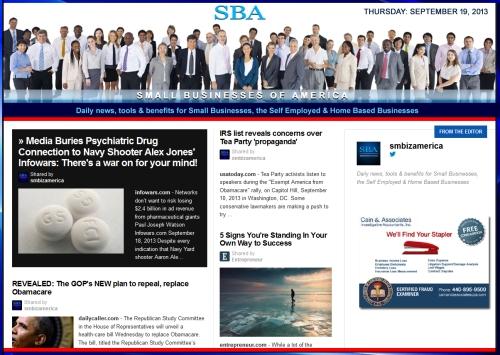 SBA Small Businesses of America 091913 smbiz news sbamember smbizamerica