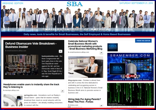 SBA Small Businesses of America 092113