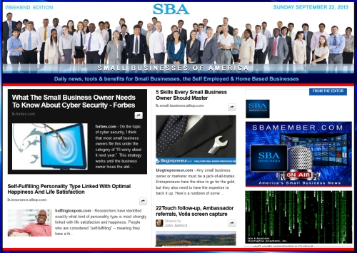 SBA Small Businesses of America 092213