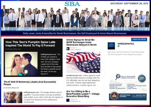 SBA Small Businesses of America 092813 smbiznews sbamember smbizamerica