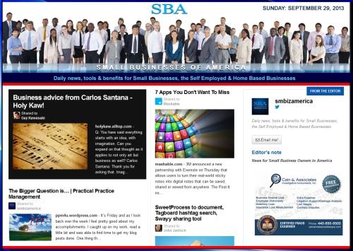 SBA Small Businesses of America 092913 smbiznews sbamember smbizamerica