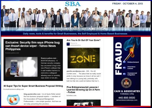 SBA Small Businesses of America 100413 smbiznews sbamember smbizamerica
