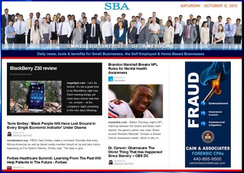 SBA Small Businesses of America 101213 smbizusa smb smbiz smbizamerica Ad Cain and Associates