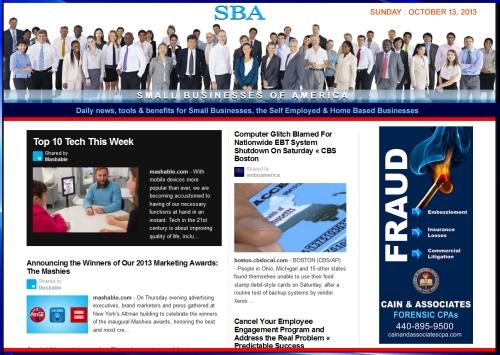 SBA Small Businesses of America 101313 smb smbiz smbizamerica Cain and Associates