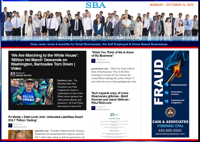 SBA Small Businesses of America 101413 smbiz smbizamerica Featuring Cain and Associates