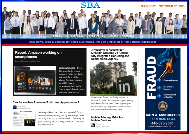 SBA Small Businesses of America 101713 news
