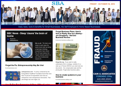 SBA Small Businesses of America 101813 news smbizamerica