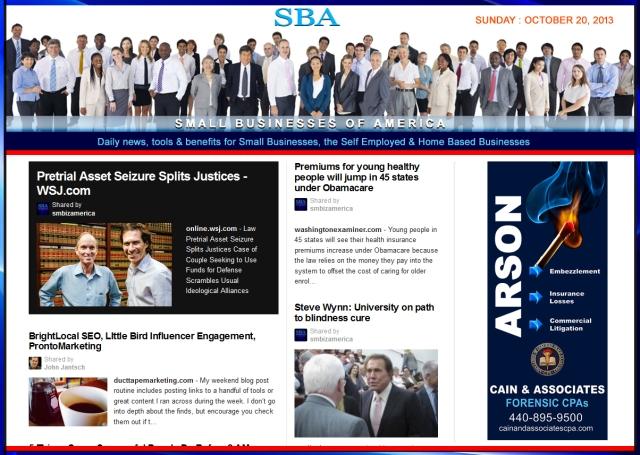 SBA Small Businesses of America 102013 news smbizamerica smbiz
