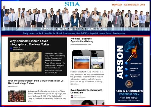 SBA Small Businesses of America 102113 news smbizamerica smbiz