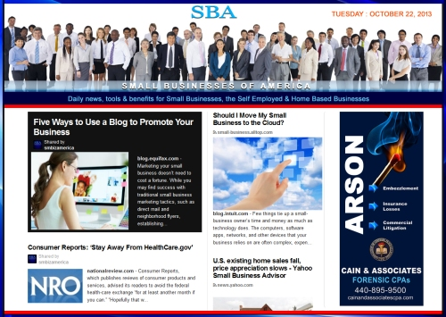 SBA Small Businesses of America 102213 news education smbizamerica smbiz