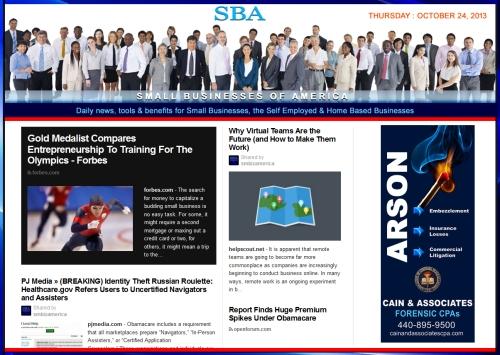 SBA Small Businesses of America 102413 news, smbiz, smbizamerica