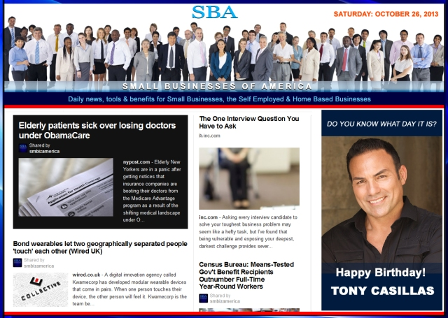 SBA Small Businesses of America 102613 news smbiz happy birthday tony casillas