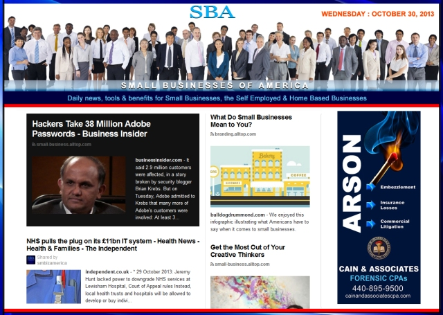 SBA SMBIZ NEWS