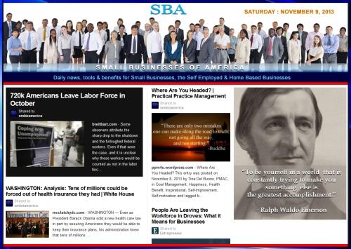 SBA Small Businesses of America 110913 news, smbiz, cain and associates ralph waldo emerson
