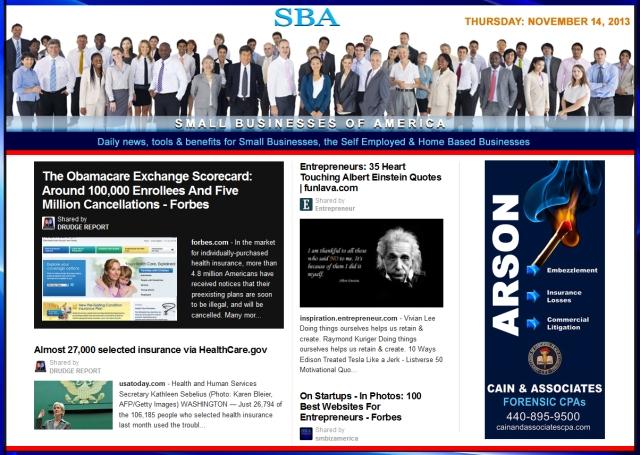 SBA Small Businesses of America 111413 news, smbiz, cain and associates, smbizamerica, smb, smallbiz, forensic accounting