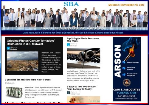 SBA Small Businesses of America 111813  smbiz, cain and associates, health insurance, smbizamerica, smb, smallbiz, news