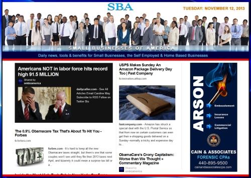SBA Small Businesses of America 11213 news, smbiz, cain and associates, smbizamerica