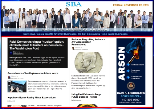 SBA Small Businesses of America News 112213 smb, smbiz, smbiznews, smallbiz, smallbiznews, entrepreneur