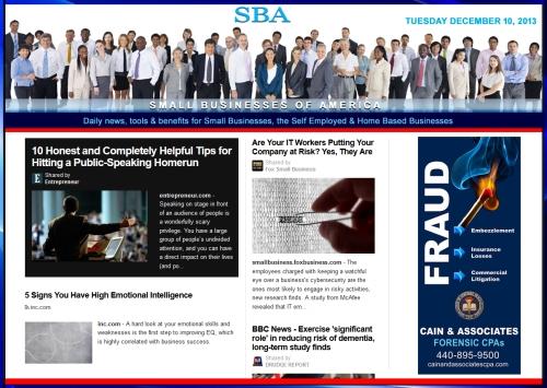 Small Business News 1210913 smb, smallbiz smbiz smbizamerica