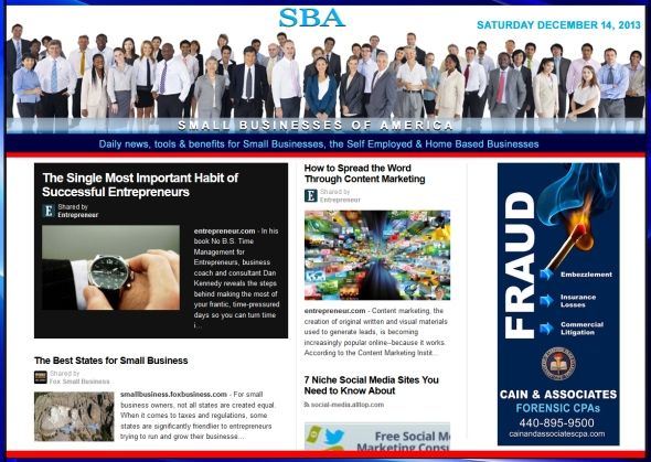 Small Businesses of America News 121413