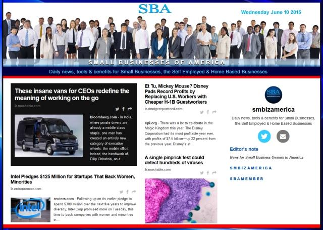 SBA Small Businesses of America News 06102015 smbiz, smbiznews, smbizamerica, News, smallbiz, SBA, Washington DC
