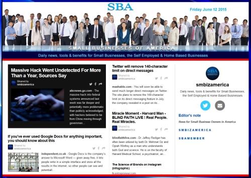 SBA Small Businesses of America News 061215, smbiz, smbiznews, smbizamerica, News, smallbiz, SBA, Washington DC