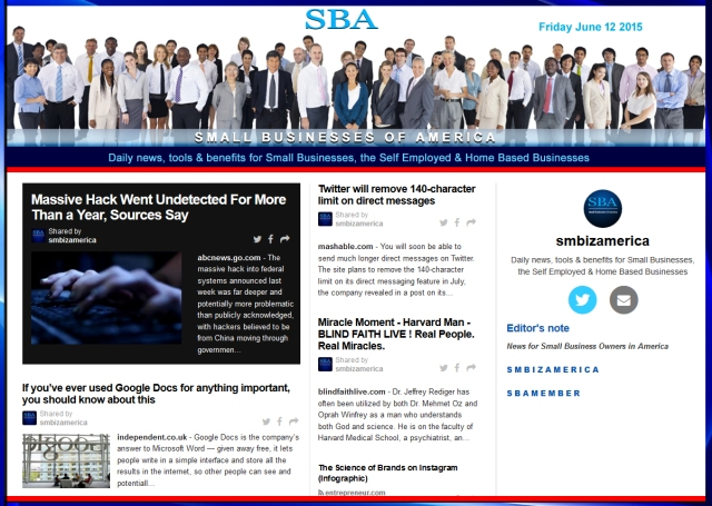 SBA Small Businesses of America News 061215, smbiz, smbiznews, smbizamerica, News, smallbiz, SBA, Washington DC