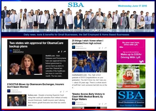 SBA Small Businesses of America News 061715 #smbiz #smbizamerica #smbiznews #news #america