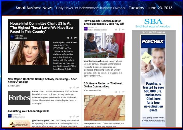 Small Business News 062315 SMBIZ