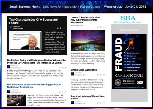 Small Business News 062415 SMBIZ