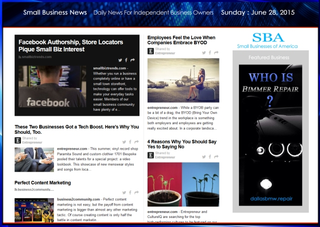 Small Business News June 28 2015