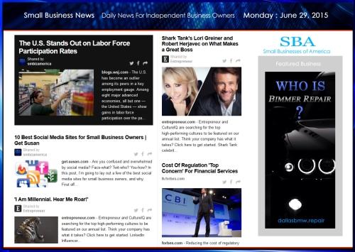 Small Business News 062915 SMBIZ