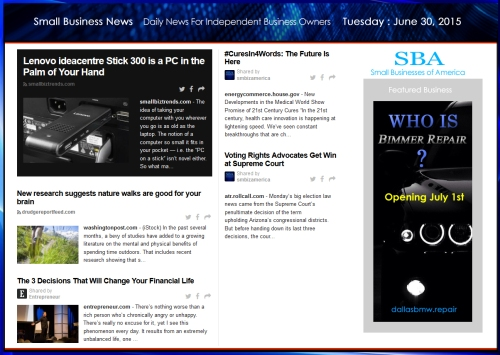 Small Business News 063015 SMBIZ #smbiz #smallbusiness #smallbiz