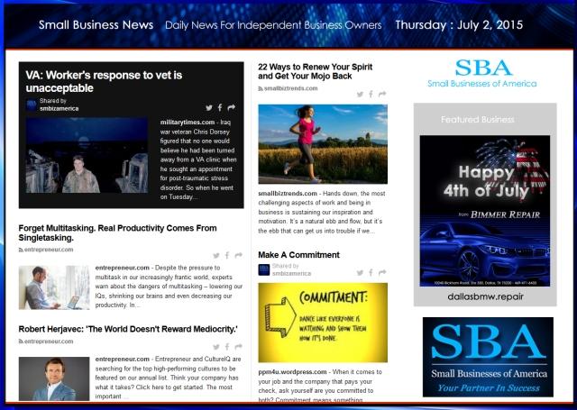 Small Business News 070215 SMBIZ #smbiz #smallbusiness #smallbiz #news #sbanews #small business news