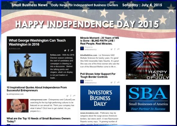 Small Business News 070415 SMBIZ #smbiz #smallbusiness #smallbiz #news #sbanews #small business news, #4thofjuly