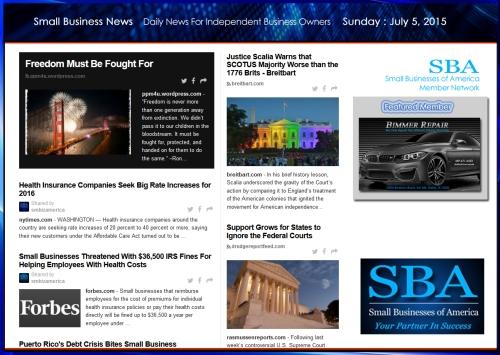 Small Business News 070515 SMBIZ #smbiz #smallbusiness #smallbiz #news #sbanews #small business news
