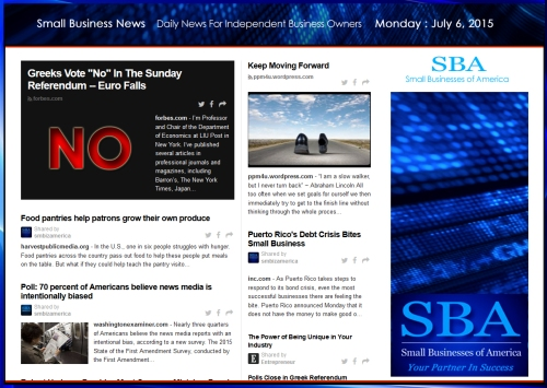 Small Business News 070615 SMBIZAMERICA