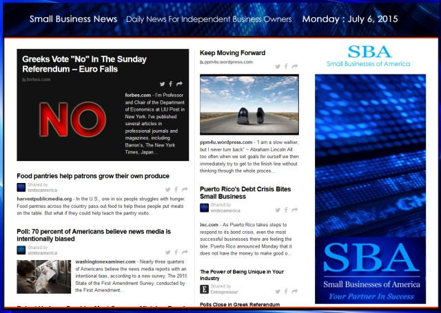 Small Business News 070615 SMBIZAMERICA
