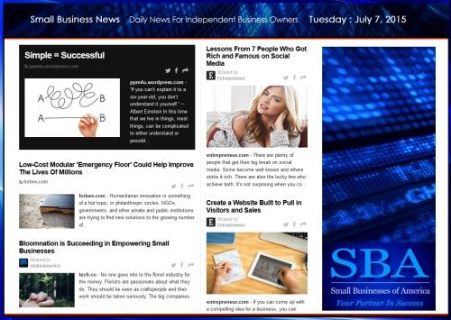 Small Business News 070715 SMBIZAMERICA