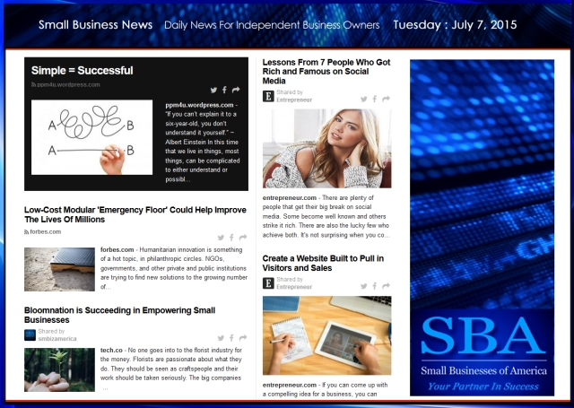 Small Business News 070715 SMBIZAMERICA
