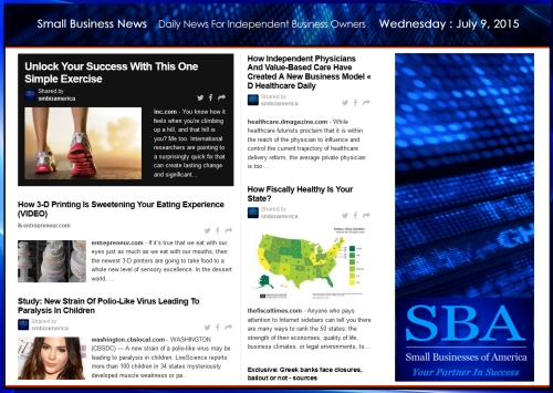 Small Business News 070915 SMBIZAMERICA