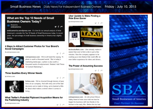 Small Business News 071015 SMBIZAMERICA