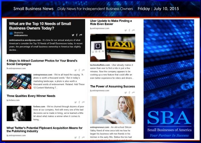 Small Business News 071015 SMBIZAMERICA