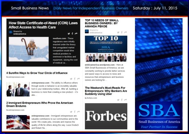 Small Business News 07112015 SMBIZAMERICA #smbiz