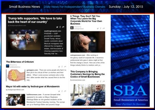 Small Business News 07122015 SMBIZAMERICA