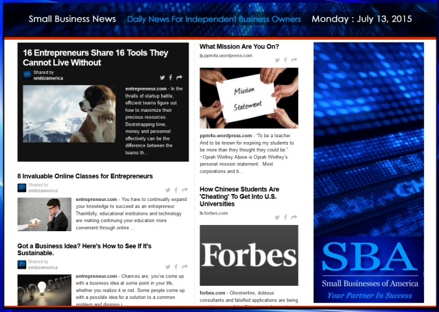 Small Business News 07132015 SMBIZAMERICA