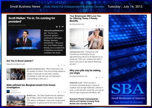 Small Business News 07142015 SMBIZAMERICA #smbiz
