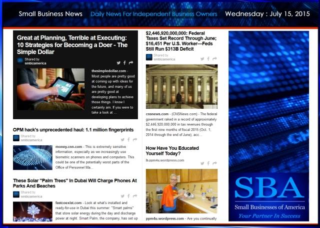 Small Business News 07152015 SMBIZAMERICA